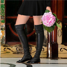JOSEFINAS 'Twiggy' FLAT BALLERINA LEATHER STRETCH OVER THE KNEE BOOTS EU 40 US 9