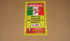 BUSTINA PACKET TUTEN STICKERS FIGURINE SUPERCALCIATORI PANINI 1972/73 FULL - MAX