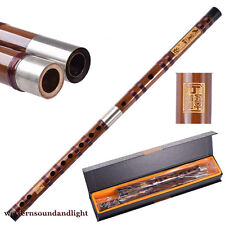 professional Level Master Made Real Cow Horn Chinese Bamboo Flute dizi A Key+Box