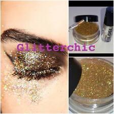 holographisch Gold Glitzer Augen 10g mit Fix Gel und Anwendungen Stab