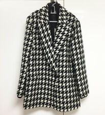 Theory Danvey Coat Size Medium New With Tags Houndstooth Gorgeous Boyfriend Fit