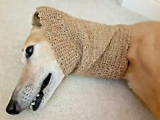 Greyhound Dog Med. Brown Snood 2 Cover Neck **100% Donation 2 Cure K9 Cancer