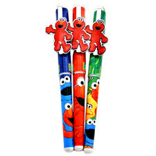 Sesame Street Ball Pen Set Elmo Metal Clip Black Ink 3pc