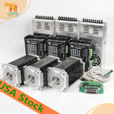 3PCS Nema34stepper motor 1090OZ-IN(7.7N.m) 5.6A 14mm shaft wantai motor US FREE