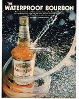 1968 ANTIQUE Bourbon Whiskey Waterproof Vtg Print Ad