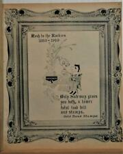 1858-1959 Colorado 100th Centennial Ad / Safeway Stores / Gold Bond Stamps