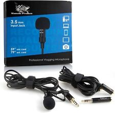 Professional Lapel Microphone, Android iPhone, Omnidirectional Lapel Clip-On