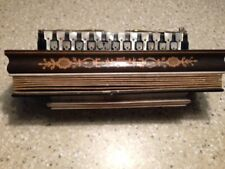 Rare Antique circa 1845 Open Pallett French Flutina with Wood Marquetry Inlay