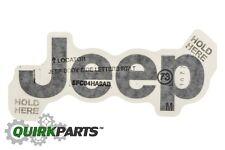 97-06 Jeep Wrangler Exterior JEEP Decal/Sticker VERY DARK!! SILVER OEM NEW MOPAR
