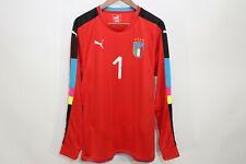 Puma Dry Cell Italy Goalkeeper GK Shirt Jersey Gianluigi Buffon #1 Red Size L
