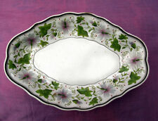 Wedgwood creamware shaped dish, hand painted border No 972 c.1800-20