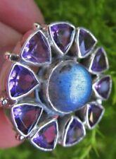 Ringe mit Amethyst echten Edelsteinen aus Feinsilber für Damen