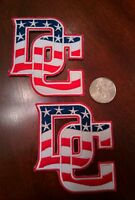 """(2) WASHINGTON NATIONALS  Embroidered Iron On LOGO Patches patch lot  3"""" X 3"""""""