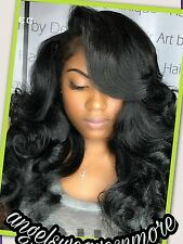 Brazilian virgin human hair lace front closure. 5 x 5 Free 3 or  Middle 8A