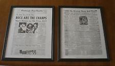 5 PIRATES WORLD SERIES CHAMPIONS FRAMED 11x14 NEWSPAPER PRINTS