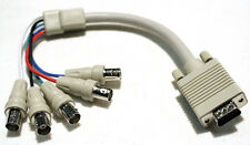 1ft. VGA Male Video to 5 x BNC British Naval Bayonet Neill Connector Cable