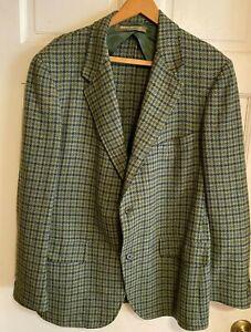 HATE TO TOSS Vintage BROOKS BROS Wool Tweed Jacket~Union Label~Repairs needed