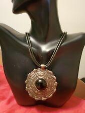 Vintage Avenue Native American Design Necklace Black Onyx