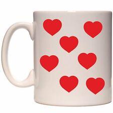 80 x red hearts vinyl/ mug heart VINYL STICKERS / DECAL xmas