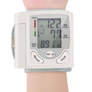 Automatic Digital Wrist Blood Pressure Monitor Cuff Machine Home Test Device