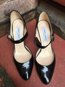 Jimmy Choo Black Patent Heels, UK 6, EU 39. Excellent Condition.