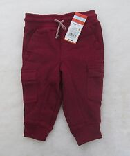 Cat & Jack Baby & Toddler Boys Joggers BING CHERRY Size 12M 18M Or 2T NWT