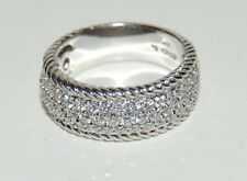 Sonia Bitton Sonia B 14k White Gold Ring W/Diamonds  2.0 TCW V S1 Cts G Size 9.5
