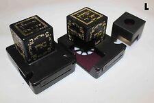 Rashi 32 Millimeter Black Plastic Tefillin Boxes Set for Left Handend+ Mirror
