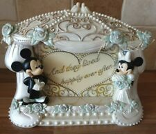 Offical Disneyland vintage Mickey and Minnie Wedding Picture photo Frame V.G.C.