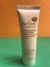 Befine Food Skin Care Exfoliating Cleanser Face Wash Natural 1oz Travel Size NEW