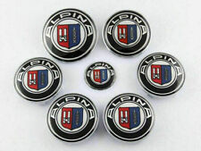 7pcs set 82+74mm,4x68mm,45mm For Alpina Emblems Hub Wheel Cap Badge Decal Logo