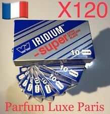 120X WIZAMET SUPER IRIDIUM Razor Blade Double Edge DE No feather polsilver Panda