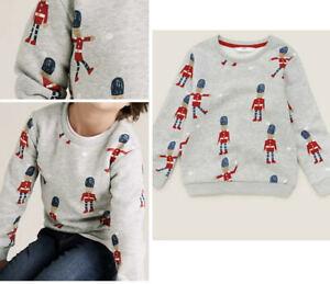 New Grey Sweater Sweatshirt Christmas Jumper Soldier Ex M&S rrp £14