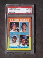 1975 Rookie Infielders DeCinces Trillo # 617 PSA 8 NM-MT