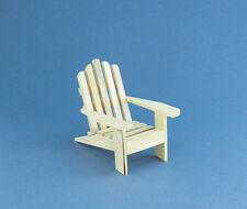 Nice Fairy Garden Dollhouse Miniature Wooden Adirondack Beach Chair #D9132-67