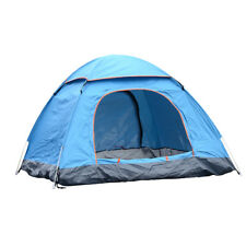 Waterproof 4 Person Dome Tent Mosquito Camping Outdoor Double Layer SkyBlue