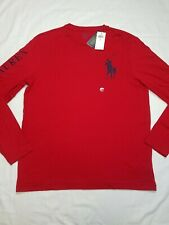 NWT Polo Ralph Lauren Big Pony Slim Fit Long Sleeve T Shirt Large L Red $129