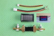DC 200V 200A Voltmeter Ammeter Blue + Red LED Dual Digital Volt Amp Meter Gauge