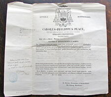 CAROLUS PHILIPPUS PLACE, 1867,  dieu saint.. apostolique -évêque MARSEILLE