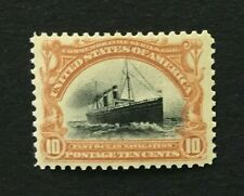 mystamps  US 299, 10 cent Pan American, 1901, MNH OG XF, Certified 90