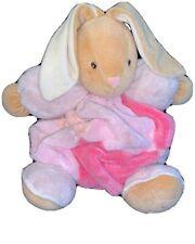 Kaloo Plush Bunny Rabbit Round chubby Pink Rose white Baby Toy Stuffed Animal Z8