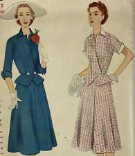 1950s Simplicity Vintage Sewing Pattern 3853 Dress Bust 36