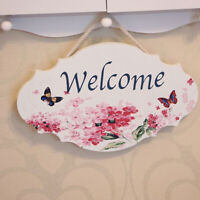Wooden House Home Hanging Wall Plaque Sign Retro Rustic Shabby Chic Decoration W