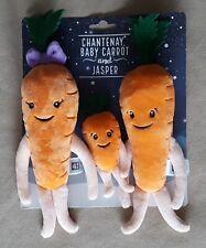 Aldi Carrot Family - Chantenay & Baby Carrot & Jasper 2019 Plush Soft Toys