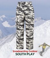 SouthPlay Mens Premium Waterproof Wear Warming Ski SnowBoard Wear Pants-Camo