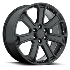 "(4) 22"" Yukon Denali 1500 GMC Chevy Gloss Black Wheels Rims Set Sierra"