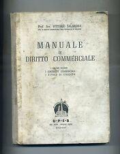 Vittorio Salandra # MANUALE DI DIRITTO COMMERCIALE - Volume II # UPEB 1948