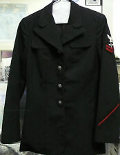 US NAVY WOMEN'S DRESS BLUE COAT OLD STYLE POLY/WOOL E5 AVIATION MACHINIST 8L