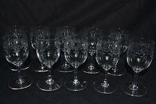 8(+2) verres cristal baccarat sevigné
