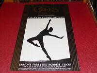 COL.J.LE BOURHIS DANSE BALLET/ AFFICHE OPERA PARIS GARNIER PARSONS FORSYTHE 1991